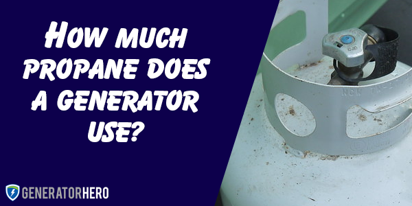 How much propane does a generator use?